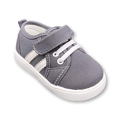 Wee Squeak Toddler Squeaky Tennis Shoes Andy Grey Size 7