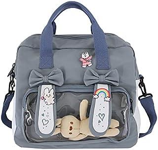 Faerland Japanese Style Bunny Ear Canvas Hand/Shoulder Clear Ita Bag