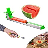 Watermelon Windmill Cutter Slicer, YIDADA Stainless Steel Shape Fruit Tools Quickly Cut Tool Kitchen Gadgets with Melon Scoop