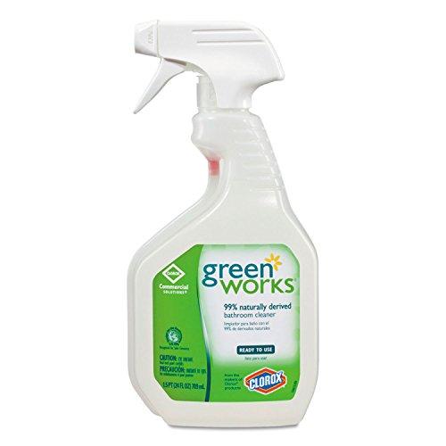 Green Works 00452CT Bathroom Cleaner 24oz Spray Bottle
