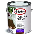 PACK OF 2 - Glidden Porch & Floor Paint and Primer, Grab-N-Go, Satin Finish, Light Grey, 1 Gallon