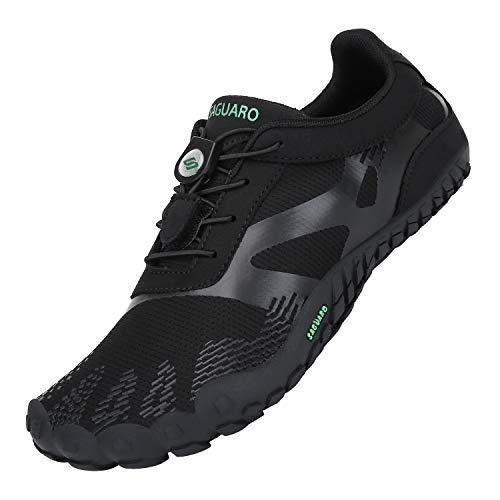 Zapatillas de Trail Running Minimalistas Hombre Barefoot Respirable Secado rápido Hombres Zapatos de Agua Deportes Acuáticos Escarpines Negro 43