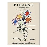 ヴィンテージピカソマティスのポスターと版画、抽象的な女の子の体の花の壁の芸術、家の装飾のキャンバスの絵画 A2 60x80cm