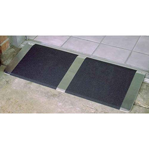 Titan Ramps 12 in x 32 in Wheelchair Ramp Made from Light Weight Aluminum for Door Thresholds Easy to Store and Move