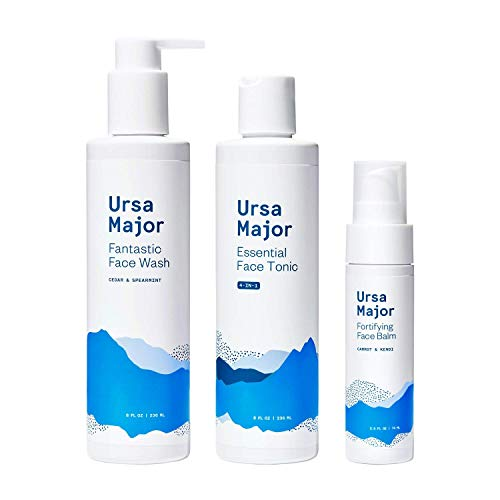 Ursa Major Oily + Acne Prone Skin Bundle | Natural Face Wash, Face Toner, Face Moisturizer for Oily and Acne Prone Skin | 3 count