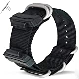 Gazelle Trading 22mm Replacement Nylon Watch Band Strap for Casio Men Women G-Shock GA-110/100/120/150/200/300/400 GD-100/110/120 G-8900 DW-5600 GW-M5610 DW-6900 G-5600 GW-6900 DW-9052 GLS-8900