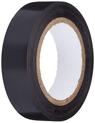Nastro isolante in PVC, colore nero, lunghezza 10 m, larghezza 15 mm, confezione da 10 pezzi