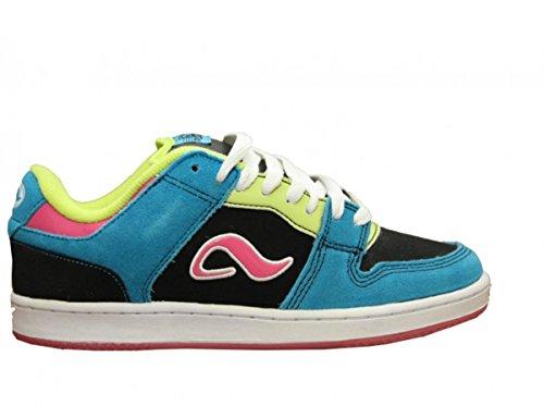 Adio Skateboard Schuhe Monroe Black/Blue/Pink Sneakers Shoes, Schuhgrösse:37