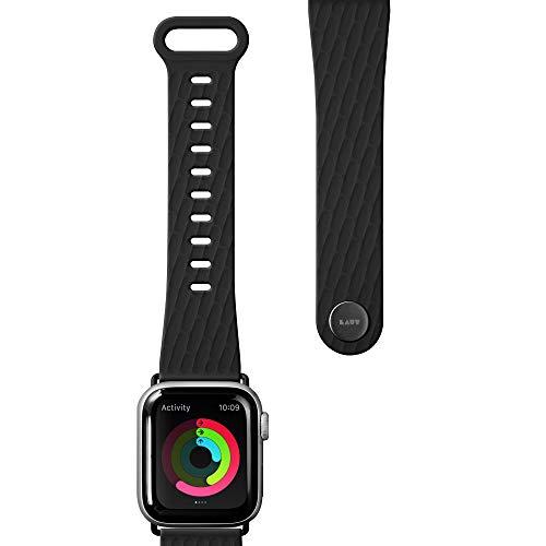 LAUT アクティブ 2.0 スポーツウォッチストラップ Apple Watch シリーズ1/2/3/4/5用 抗菌スポーツポリマー素材 人間工学に基づいたフィット 簡単ロック 38mm 40mm ブラック