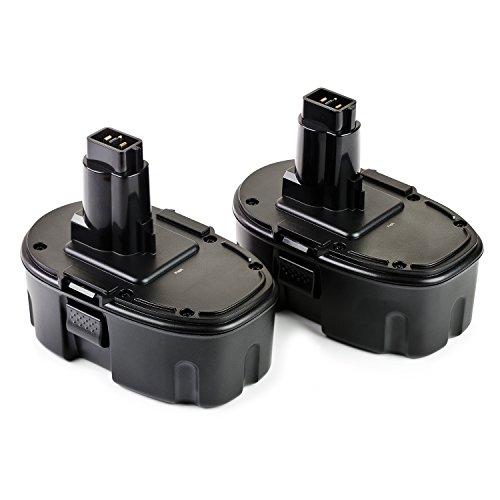 ExpertPower 2 Pack 18v 2000mAh NiCd Battery for Dewalt DC9096 DW9095 DW9096 DW9098 DE9039 DE9095 DE9096 DE9098 DC9099 DC9098