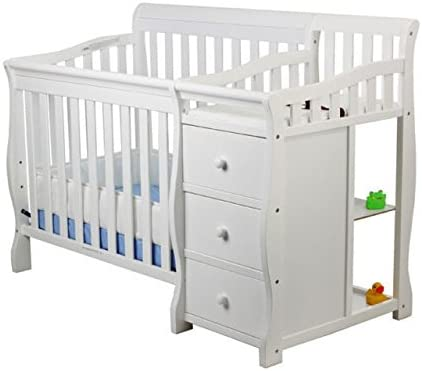 Dream On Me Jayden 4 in 1 Mini Convertible Crib And Changer in White Greenguard Gold Certified product image