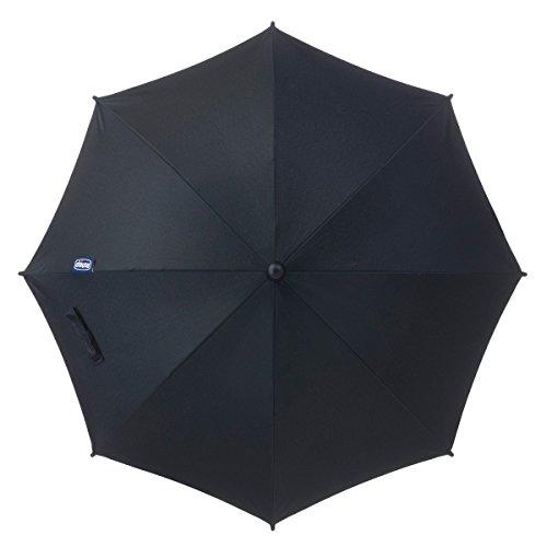Chicco - Sombrilla para sillas de paseo, universal, color negro (Black)