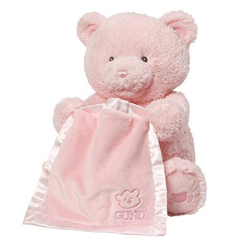 Baby GUND My First Teddy Bear Peek A Boo Animated Stuffed Animal Plush, Pink, 11.5