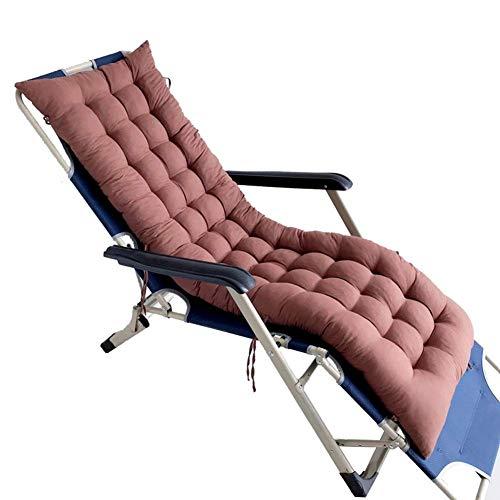 Cojín relajante para tumbona de jardín, colchoneta reclinable para exteriores para viajes de vacaciones, funda antideslizante para columpio, cojín para asiento de silla de madera suave y acogedora