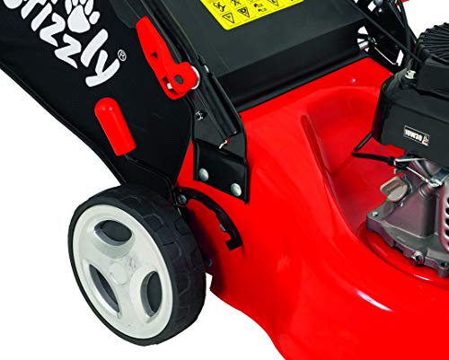 Grizzly Tools petrol lawn mower BRM 4210-20 1.6 kW 2.1 HP 42 cm cutting width steel housing 5 fold height adjustment