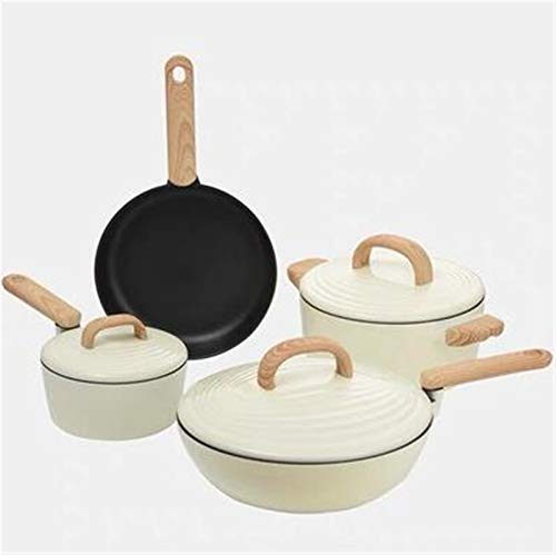 YYCHJU Cookware Set for Gas, Electric and Stovetop Cookware Set Soup Pot Stew Cooking Pots and Pans Induction Cooker Casserole Kitchen