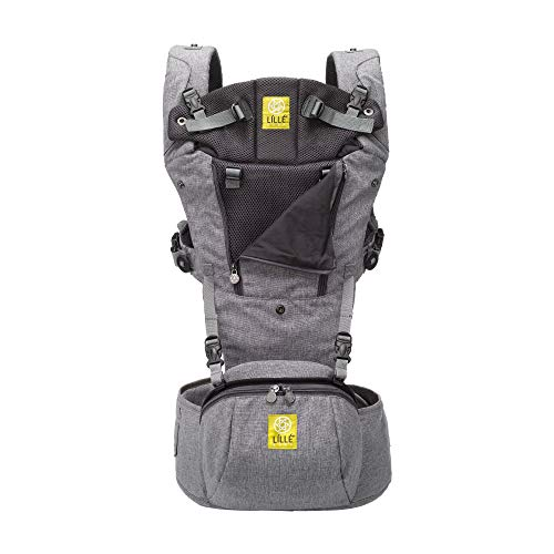 LÍLLÉbaby SeatMe Hip Seat All Seasons Baby Carrier with Structured Seat Insert, Heathered Grey