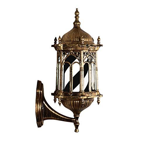 LCYFBE Palace LED Retro Barber Pole Licht Wandmontage Energiesparende rotierende Beleuchtung Schwarz und Weiß 49cm