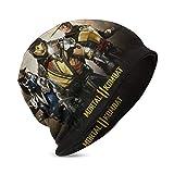Mor-tal Ko-mbat Unisex Breathable Beanie Caps for Children Creative Black