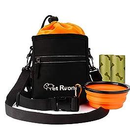 Pet Room Dog Treat Pouch Bag with Poop Bag Holder, Dog Walking Bag with Adjustable Belt and Shoulder Strap, Dog Training Aid