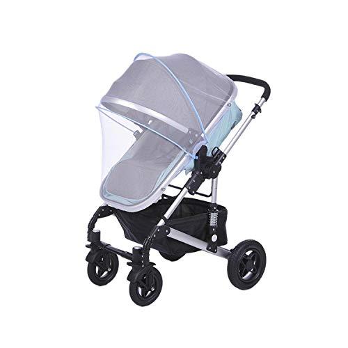 Eileen Ford Compacto y Ligero |1 Pieza Cochecito para bebés Mosquitera Insecto Malla Malla Buggy Cuna Carro de Mosquitos Mosquito Verano Cama de bebé Carro de Red Mosquito-Azul-