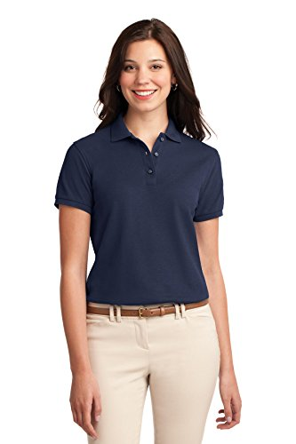 Port Authority Women's Silk Touch Polo XL Navy