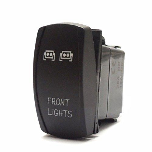 B Blesiya Práctico Interruptor de Palanca Basculante de Tablero de Luces Delanteras LED Azul de 5 Pines para Automóvil
