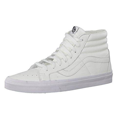 Vans U Sk8-hi Reissue Leather, Unisex-Erwachsene Sneakers, Weiß, 39 EU