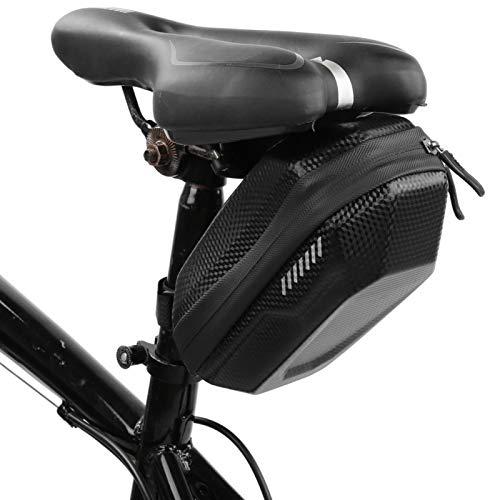 Annjom Bolsa para Asiento de Bicicleta, Bolsa Trasera para Bicicleta, Carcasa Dura de EVA con diseño de Hebilla de Correa para Acampar para Bicicleta de montaña para Viajar