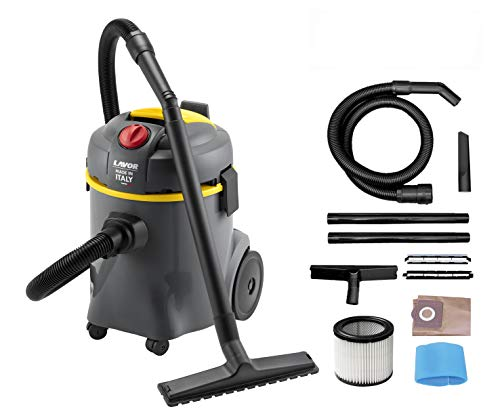 Lavor 8.253.0010 Aspirador Aspiraliquidi WT 20 P, 800 W, 230 V, gris/amarillo