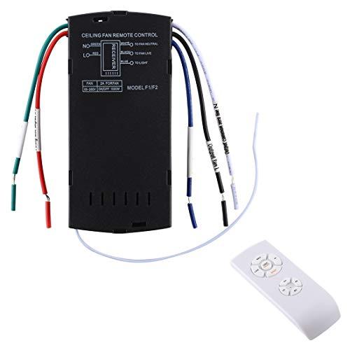 Luoshan Universal de la lámpara de Techo Ventilador Remoto Kit de Control de 85-265V sincronización inalámbrica Interruptor de Control de Velocidad del Viento Ajustado transmisor Receptor