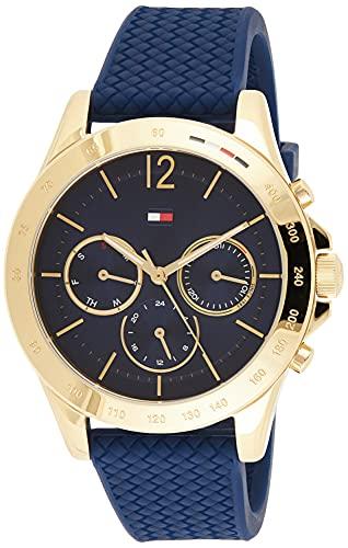 Tommy Hilfiger Damen Analoger Quarz Uhr mit Silikon Armband 1782198
