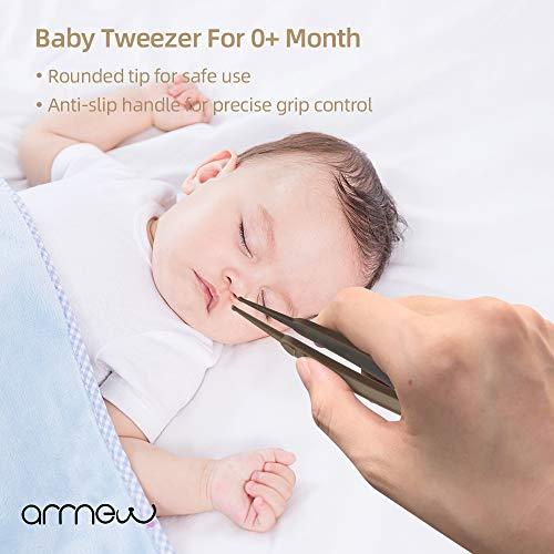 爪切り赤ちゃん爪切りセット新生児お鼻ケアのピンセット付きベビーケア(コーヒー)