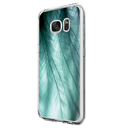 Pacyer kompatibel mit Galaxy S7 / S7 Edge Hülle Silikon Ultra dünn Transparent Handyhülle Durchsichtige Rückschale TPU Schutzhülle Case Cover Blume Kaktus (9, Galaxy S7)