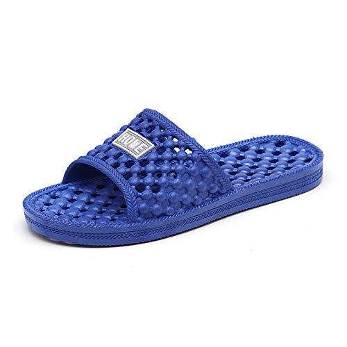ypyrhh Top Chanclas Unisex para Adultos,Zapatillas de baño Antideslizantes,Zapatillas de Masaje Huecas para Hombres y Mujeres-Azul Real_36,Nouveaux Hommes tesat