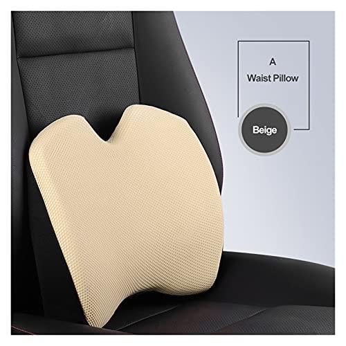 ZHANGJINYAN Almohada del cuello del reposacabezas del coche para la silla del asiento en la memoria automática de la memoria de la espuma de la malla de la malla de la malla de la malla de la cubierta