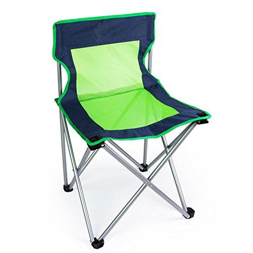 WAYMX Épaissir avec Mesh Chaise Pliante Respirante Pêche Loisirs Retour Chaise Extérieure 100kg de Charge, b
