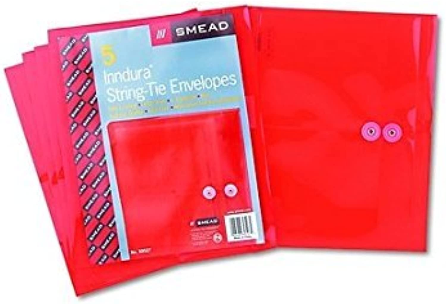 Smead Poly String & & & Button Booklet Envelope, 9-3 4 x 11-5 8 x 1-1 4 - 5 per Pack,Farbe rot , (Pack of 2) by Smead B016P3KGBI | Elegant