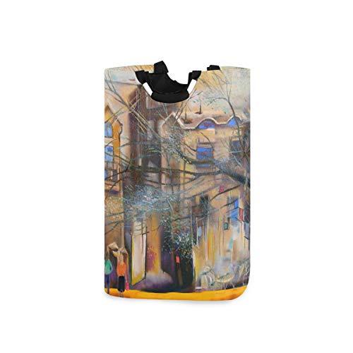YUDILINSA Laundry Hamper Storage Bin,Unknown Moscow Street Oil Painting...