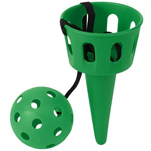 Agatige Juego de Bolas de Cuchara, Juego de Pelota de Captura, Juego de Lanzamiento de Bolas, Juguete de Entrenamiento de Coordinación Mano-Ojo para Niños(Verde)