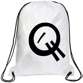 IMPRESS Drawstring Sports Backpack White with Joker Letter Q