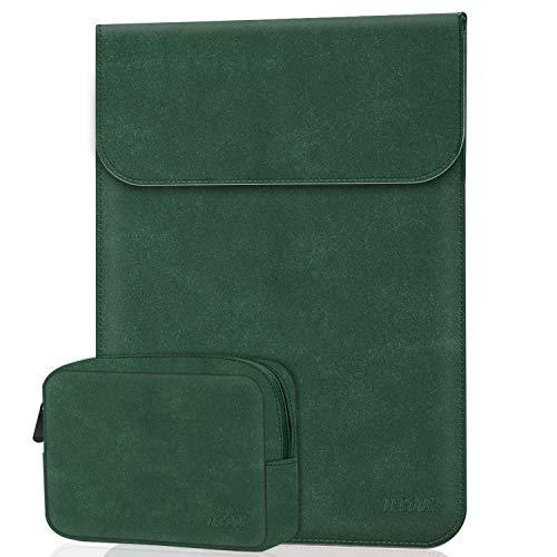 TECOOL 13-13,3 Pollici Sleeve Laptop, Custodia Notebook Portatili con Accessori Borsa per 2010-2017 MacBook Air 13 A1466/A1369, 2012-2015 MacBook PRO 13 A1502/A1425, HP Envy x360, Verde