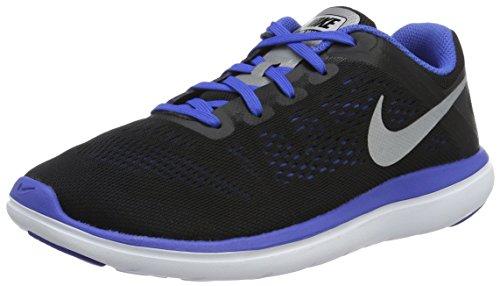 Nike Flex 2016 RN (GS), Zapatillas de Running Hombre, Negro (Negro (Black/Metallic Silver-Game Royal-White), 36.5 EU