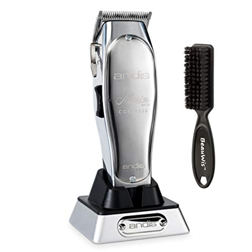 Andis Professional Master Cordless Lithium-Ion Clipper (12470) - Bundled with BeauWis Blade Brush