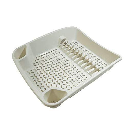 Whitefurze Grand égouttoir à Vaisselle en Plastique Crème
