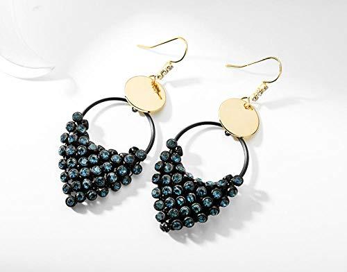 Oorbellen retro oorbellen mode oorbellen charme diamant blauw goud