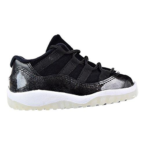 Jordan Nike Kids Air 11 Retro Low BT Black/White/Metallic Silver 505836-010 (Size: 10C)