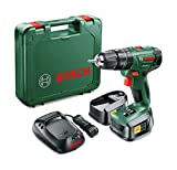 Bosch PSB 1800 LI-2 Cordless Combi Drill with Two 18 V Lithium-Ion...