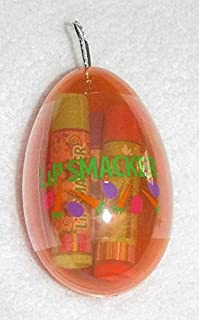 LIP SMACKER Egg Ornament with Jelly Bean, Strawberry Candy & Butter Mints Lip Balms