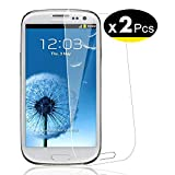NEW'C Verre Trempé pour Samsung Galaxy S3,[Pack de 2] Film Protection écran - Anti Rayures - sans Bulles d'air -Ultra Résistant (0,33mm HD Ultra Transparent) Dureté 9H Glass